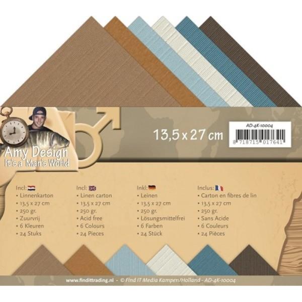 Set 24 cartes carrées It's a man world 13.5x27cm - Photo n°1