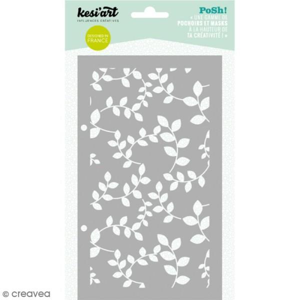 Pochoir Posh - Feuilles - 11,5 x 19,5 cm - 1 planche - Photo n°1