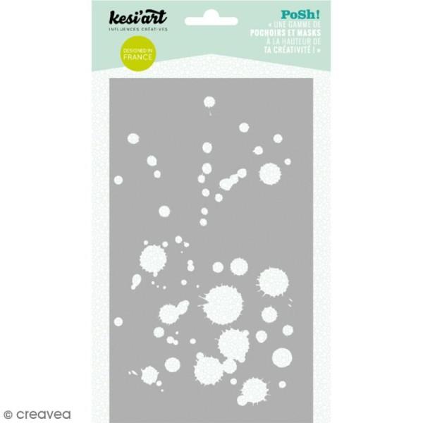 Pochoir Posh - Tâches - 11,5 x 19,5 cm - 1 planche - Photo n°1