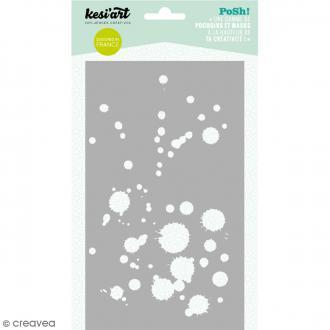 Pochoir Posh - Tâches - 11,5 x 19,5 cm - 1 planche