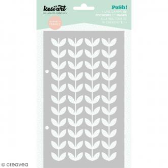 Pochoir Posh - Floral - 11,5 x 19,5 cm - 1 planche