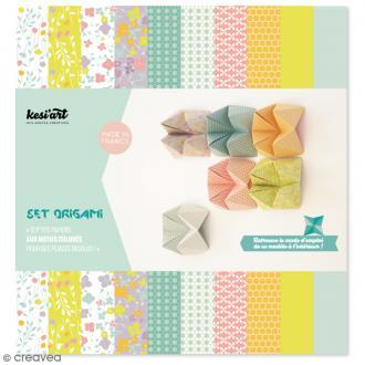Papier origami Rect/Verso - Amande & Cannelle - 20 x 20 cm - 12 pcs