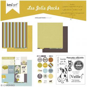 Kit scrapbooking Wouaf - Les jolis packs - 5 pcs