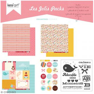 Kit scrapbooking Adorable - Les jolis packs - 5 pcs