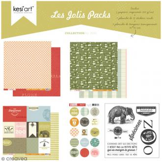 Kit scrapbooking Zoo - Les jolis packs - 5 pcs