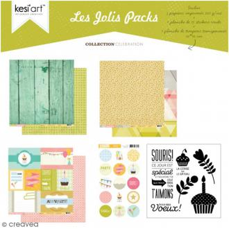 Kit scrapbooking Célébration - Les jolis packs - 5 pcs