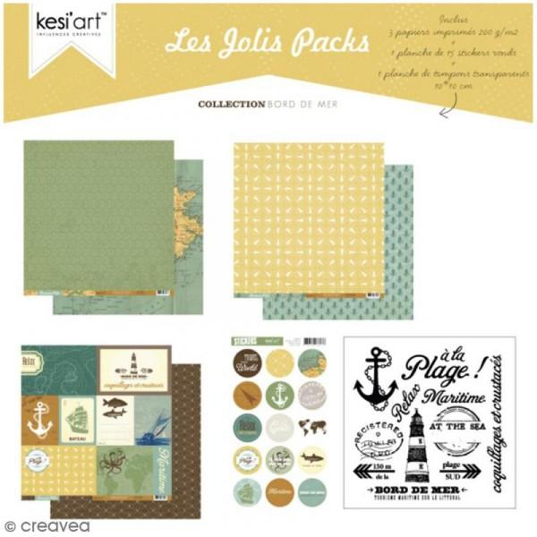 Kit scrapbooking Bord de mer - Les jolis packs - 5 pcs - Photo n°1