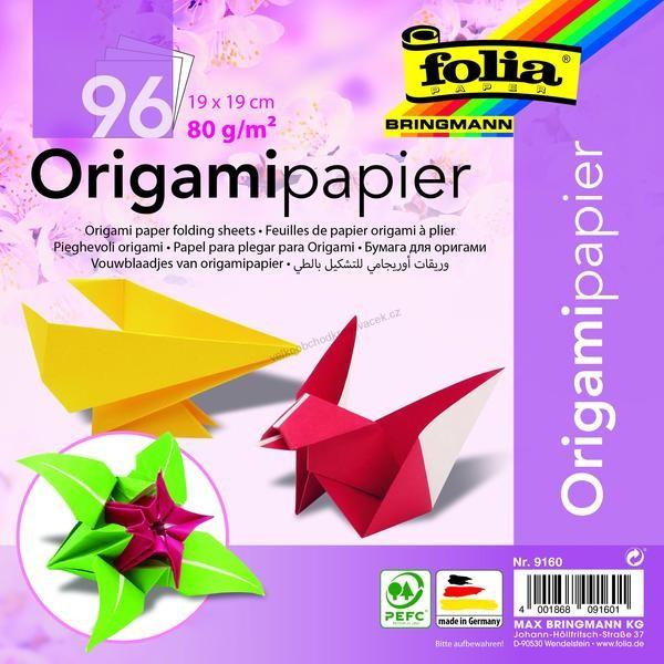 Feuilles de papier origami à plier, 190 x 190 mm assorties - Photo n°1