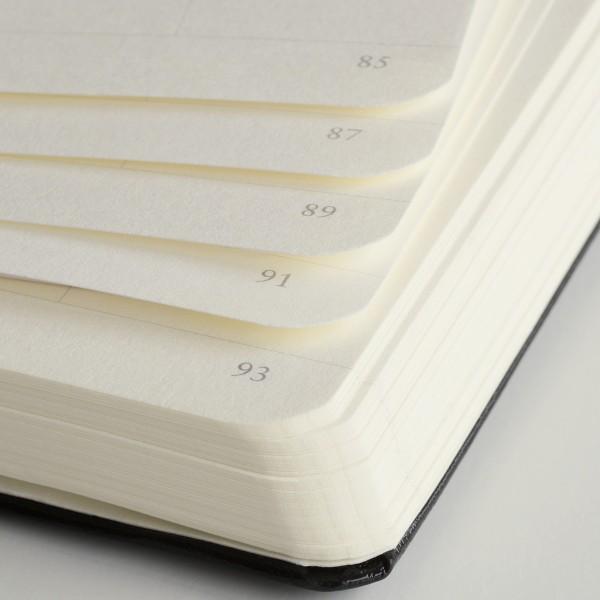 Carnet A5 Médium 15x21cm Dotted Pointillé, Couverture Rigide, 249 Pages Numérotées, Rouge - Photo n°2