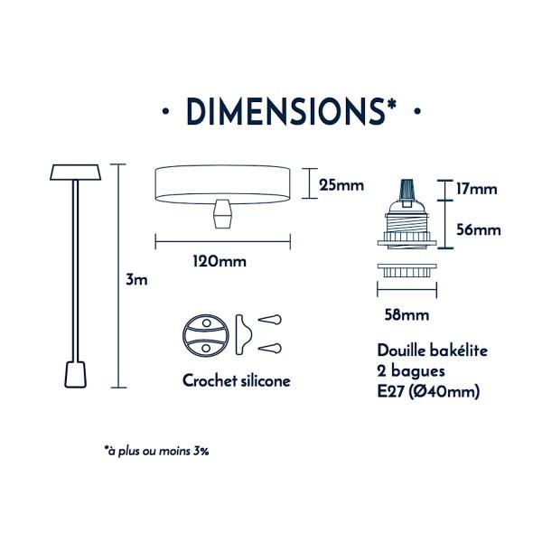 Suspension fil électrique Hang 1 Cuivre - Photo n°2