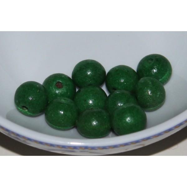 Lot de 40 Perles Cubes en Bois 8mm Vert Anis