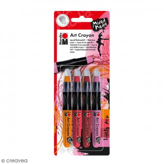 Crayon cire aquarelle - Art Crayon - Lovely red - 4 pcs