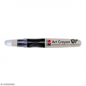 Crayon cire aquarelle - Art Crayon - Mixed Media - Argenté