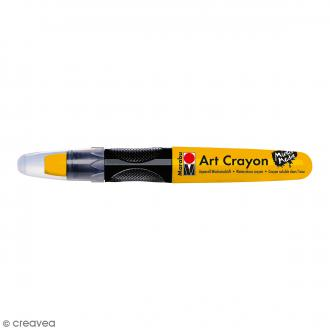 Crayon cire aquarelle - Art Crayon - Mixed Media - Doré