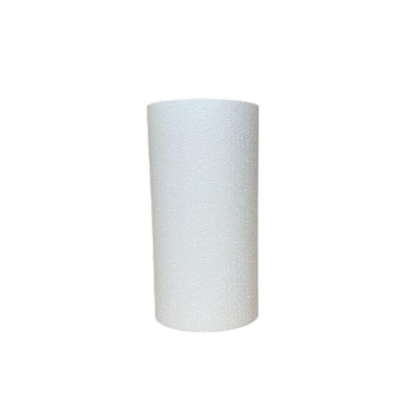 Cylindre en polystyrène  Diamètre 15cm x Hauteur  20cm, Colonne en Styropor blanc de densité Pro, 28 - Photo n°1