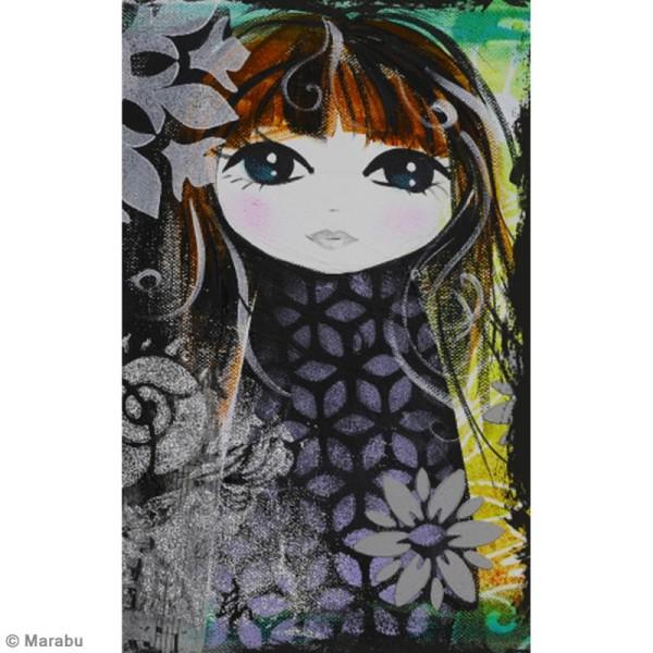 Pochoir Mixed Media - Art Stencil - Chevrons - A4 - Photo n°4