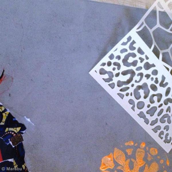 Pochoir Mixed Media - Art Stencil - Ruche - A4 - Photo n°5
