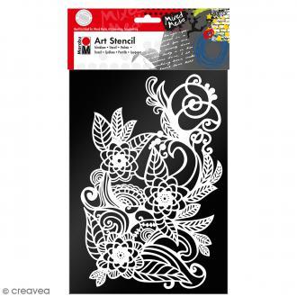 Pochoir Mixed Media - Art Stencil - Zentangle - A4