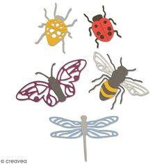 Matrice Sizzix Thinlits - Insectes - 5 pcs