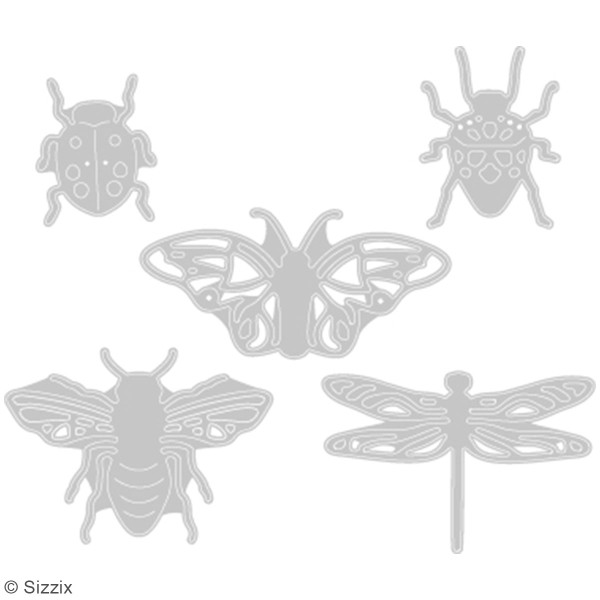 Matrice Sizzix Thinlits - Insectes - 5 pcs - Photo n°2