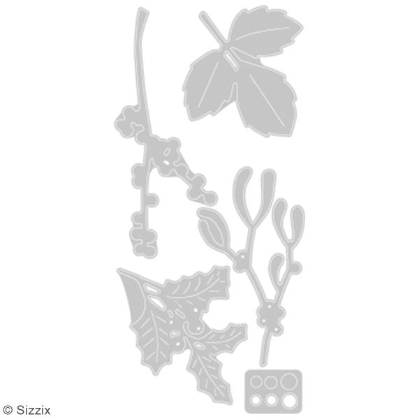Matrice Sizzix Thinlits - Feuilles d'hiver - 5 pcs - Photo n°2