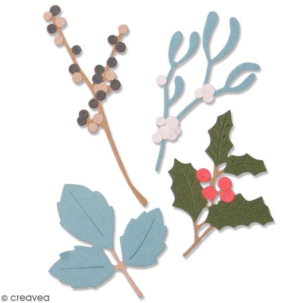Matrice Sizzix Thinlits - Feuilles d'hiver - 5 pcs - Photo n°1
