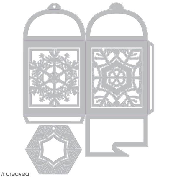 Matrice Sizzix Thinlits - Boite cadeau flocon - 4 pcs - Photo n°1