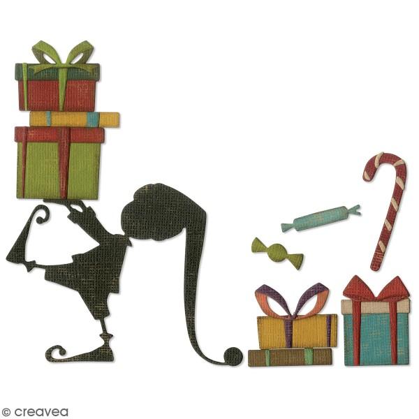 Matrice Sizzix Thinlits - Lutin du Père Noël - 11 pcs - Photo n°1