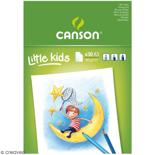 Bloc Dessin Canson little kids - A3 - 30 feuilles - Photo n°1