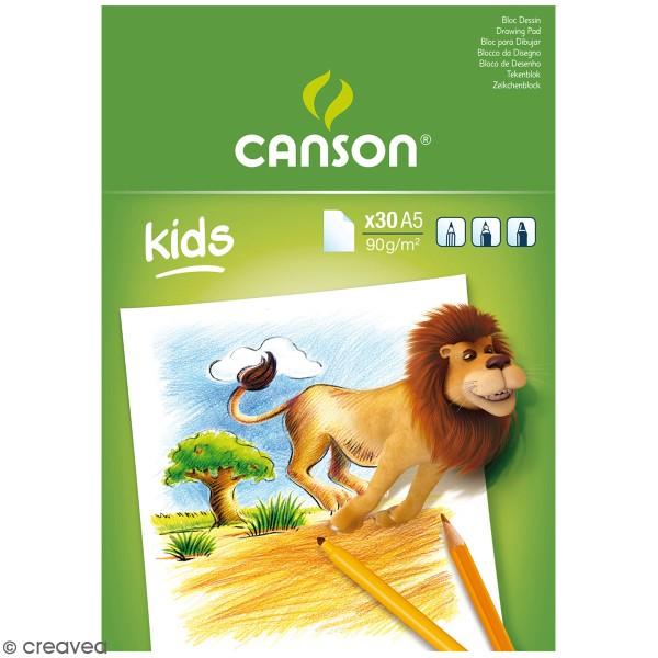 Bloc Dessin Canson kids - A5 - 30 feuilles - Photo n°1