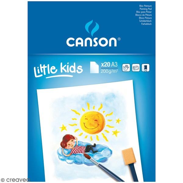 Bloc Peinture Canson kids - A3 - 20 feuilles - Photo n°1