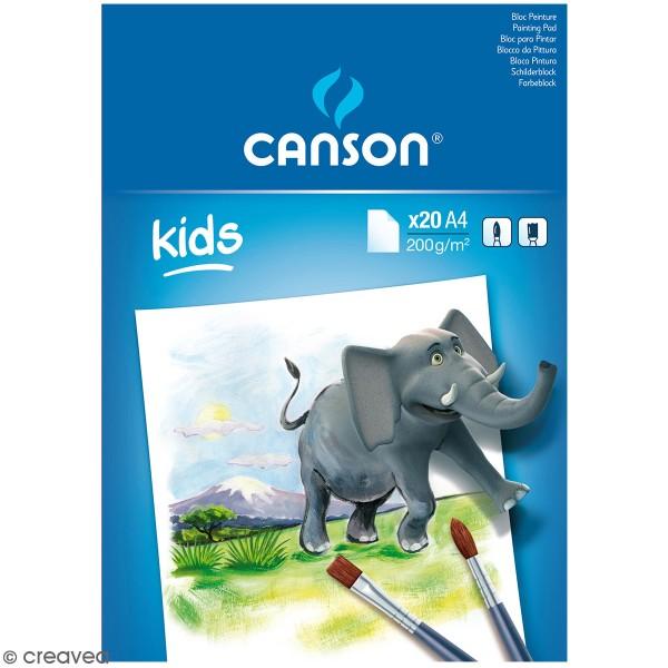 Bloc Peinture Canson kids - A4 - 20 feuilles - Photo n°1