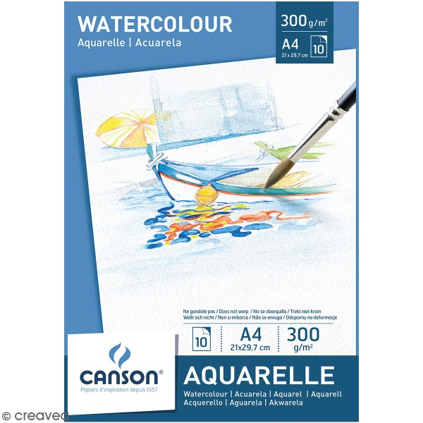 Bloc Canson A4 - Aquarelle - 10 feuilles - Photo n°1