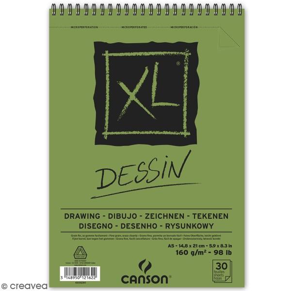 Carnet A5 Canson XL - Dessin - 30 feuilles - Photo n°1