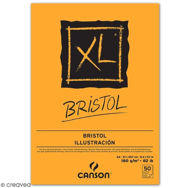 Bloc Papier Bristol A4 - Canson XL - 50 feuilles - Photo n°1