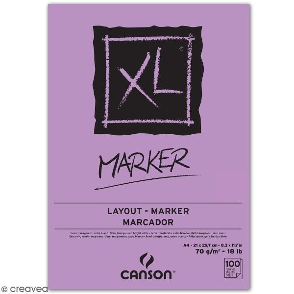 Bloc Papier Marker A4 - Canson XL - 100 feuilles - Photo n°1