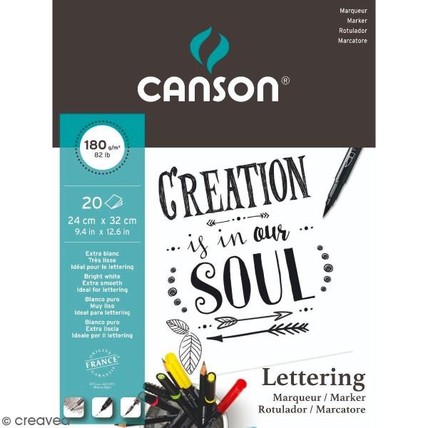 Bloc Canson Papier Lettering A4 -  feuilles - Photo n°1