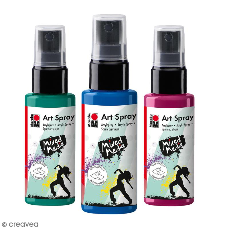 peinture acrylique spray mixed media 50 ml peinture acrylique spray creavea. Black Bedroom Furniture Sets. Home Design Ideas