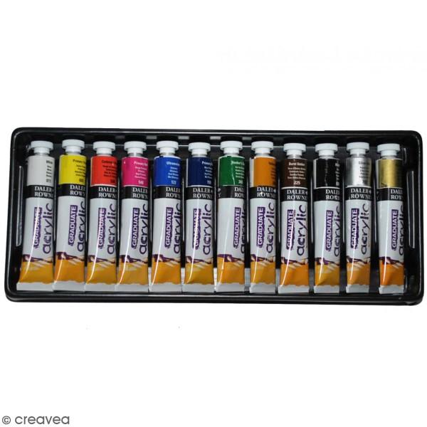 Coffret Peinture acrylique Daler Rowney - 12 x 22 ml - Photo n°1