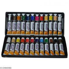 Coffret Peinture acrylique Daler Rowney - 24 x 22 ml