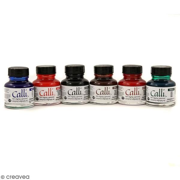 Set d'encre de Calligraphie - 6 x 29,5 ml - Photo n°1