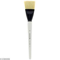 Pinceau Ferme Plat Graduate XL - Soie beaux blanc - n° 60