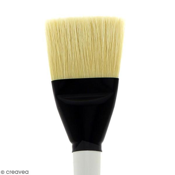 Pinceau Ferme Plat Graduate XL - Soie beaux blanc - n° 70 - Photo n°2