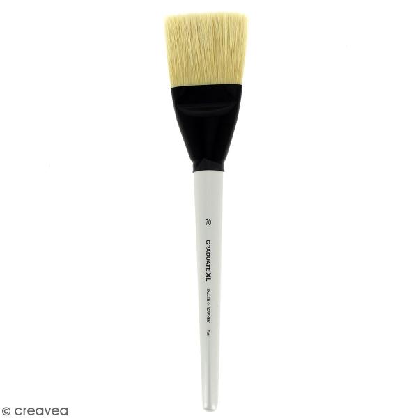 Pinceau Ferme Plat Graduate XL - Soie beaux blanc - n° 70 - Photo n°1