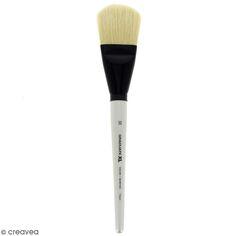 Pinceau Ferme Usé bombé Graduate XL - Soie beaux blanc - n° 50