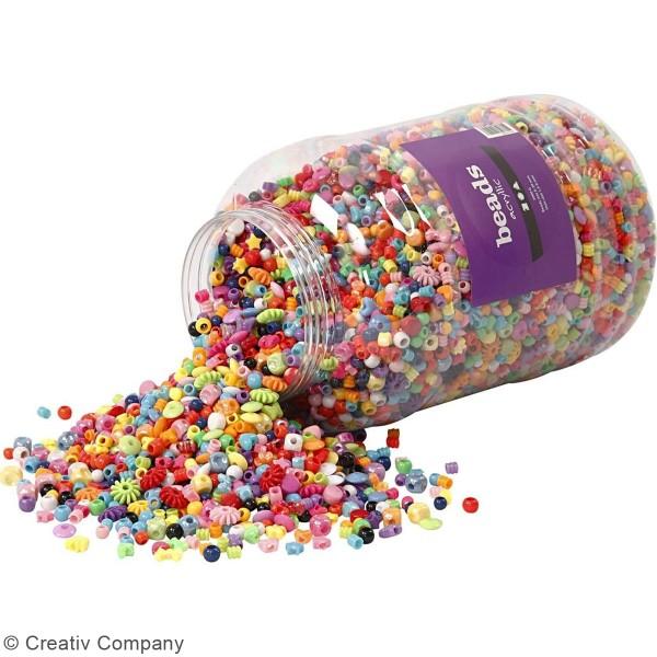 Seau de perles multicolores - 8100 pcs - Photo n°2