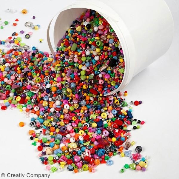 Seau de perles multicolores - 8100 pcs - Photo n°5