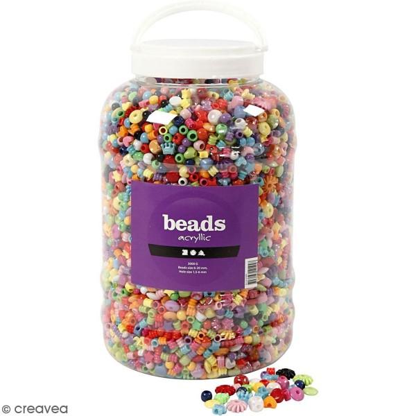 Seau de perles multicolores - 8100 pcs - Photo n°1