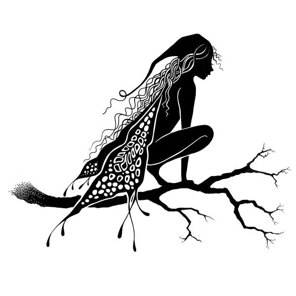 Tampon clear Lavinia Stamps - Fée mystique Raven (corbeau) - 9 x 7 cm - Photo n°1