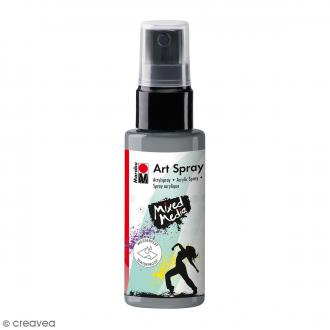 Peinture acrylique Spray - Mixed Media - Argenté - 50 ml